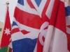 Ἡ σημαία τῶν Ἁγιοταφιτῶν & ἡ Ἀγγλική σημαία.