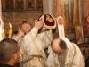 Ὁ Μακαριώτατος μετά τοῦ συλλειτουργοῦντος Ἀρχιεπισκόπου Δαμασκηνοῦ.