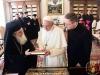 Ὁ Μακαριώτατος Πατριάρχης Ἱεροσολυμων εἰς Συνάντησιν μετά τῆς Α.Α. τοῦ Πάπα Φραγκίσκου.