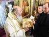 Ὁ Σεβασμιώτατος Ἀρχιεπίσκοπος Ἰόππης κ. Δαμασκηνός ἐν τῇ θείᾳ Λειτουργίᾳ.