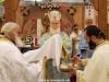 Ὁ Σεβασμιώτατος Μητροπολίτης Ναζαρέτ κ. Κυριακός τελῶν τήν Θείαν Λειτουργίαν.