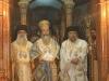 Ὁ Πατριάρχης μετά τῶν συλλειτουργούντων Ἀρχιεπ. Κωνσταντίνης καί Θαβωρίου