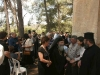 The reception at the yard outside the church after the Divine Liturgy