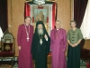 His Beatitude with Primate Most Rev. Hiltz & Anglican Bishop Right Rev. Dawani.