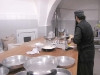 The preparation of the bread for the blessing ceremony by Monk Paisios