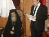 7.The graduate Ioannis Miniadis addressing His Beatitude.