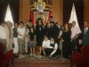 9.His Beatitude with the professors and students of the School.