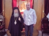 His Beatitude with Mr. Nikolaishvili at the Throne.