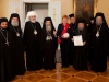 H.B. Theophilos and his escort in the meeting with President Halonen.