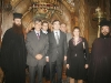 The Chief, his escort, Sacristan Isidoros & Fr. Porfyrios at the Holy Sepulchre.