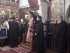 In the chapel, there are only the Fathers of the Holy Sepulchre