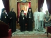 His Beatitude together with the Head-Priest at the Throne