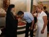 Mr. Nikolaou and Mrs. Diamantopoulou with His Beatitude