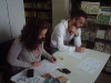 The volunteers record personal information and the problems of the children