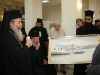 His Beatitude donating a painting of a Greek painter