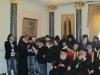 Students of St. Dimitri School chanting.