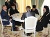 His Exc. Vladimir Putin, H.B. Patriarch Kyrill & H.B. Patriarch Theophilos & escort.