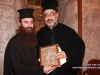 The Archbishop of Hierapolis and the newly-ordained deacon at the gathering after the ordination