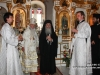 His Beatitude and retinue at the Russian monastery