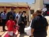 His Beatitude at the refugee housing