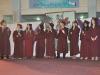 Graduates at the ceremony