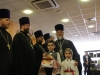 Children with eulogia approaching His Beatitude