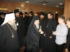 His Beatitude greeting the Russian welcoming delegation