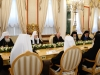 Their All Holinesses the Prelates at a meeting with President Putin