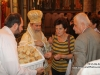 "Distributing ""antidoron"" (blessed bread)"