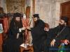 The Archbishop of Hierapolis and deacon Agapios toasting