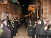 Long rows of nuns follow