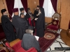"""His Beatitude offering the new Archbishop the """"History of Jerusalem"""""""