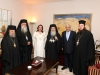 His Beatitude, his retinue and the Prime Minister of Jordan