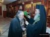 His Beatitude blessing the Elder Secretary-General