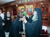 His Beatitude blessing the novices