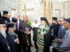 His Beatitude blessing the site