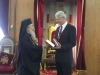 His Beatitude with the Finnish representative to the Palestinian Authority
