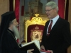 "His Beatitude offering the ""History of Jerusalem"""