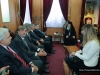His Beatitude in a discussion with Mr Venizelos and his associates