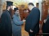 Mr Venizelos with the Elder Sacristan and f. Nikolaos