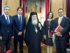 His Beatitude, the Greek Consul General and members of the delegation