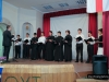 The school choir performing a patriotic song