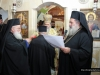 Father Spyridon being honoured for his services