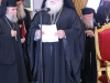 The Most Reverend Metropolitan of Nazareth greeting His Beatitude