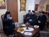 His Beatitude wishing longevity to Archimandrite Dositheos