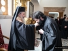 His Beatitude with the newly-tonsured monk