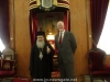 His Beatitude and Mr Casey in front of the Throne