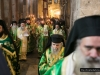 The Holy Procession moving through the Chapel of the Prison of Christ