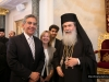 His Beatitude and the Greek Consul-General at the Hall of the Throne