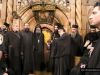 Hagiotaphite Fathers with representatives of other dominations at the Holy Aedicula